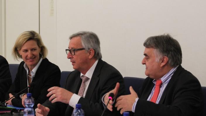 Meinungaustausch Juncker