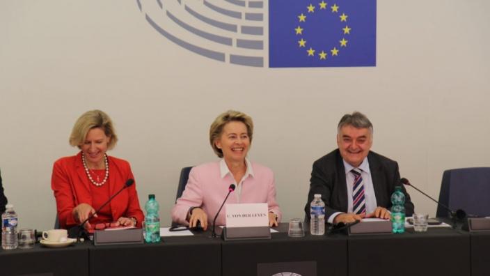 Meinungsaustausch mit Bundesverteidigungsministerin Ursula von der Leyen am 13.06.2017 in Straßburg