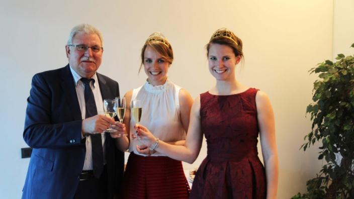 Auf Einladung von Dr. Werner Langen MdEP besuchen die Deutsche Weinkönigin und Weinprinzessin das EP in Straßburg, 14.06.2017