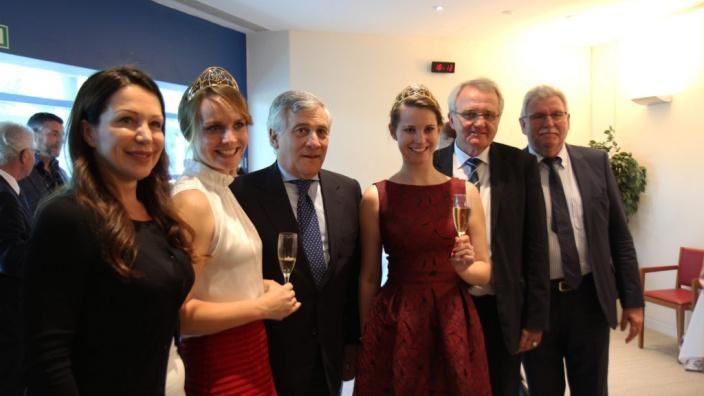Empfang der Deutschen Weinkönigin und der Weinprinzessin im Europäischen Parlament in Straßburg, 14.06.2017