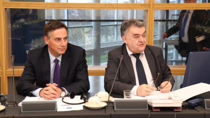 David McAllister im Gespräch mit CDU/CSU-Gruppe im Europäischen Parlament
