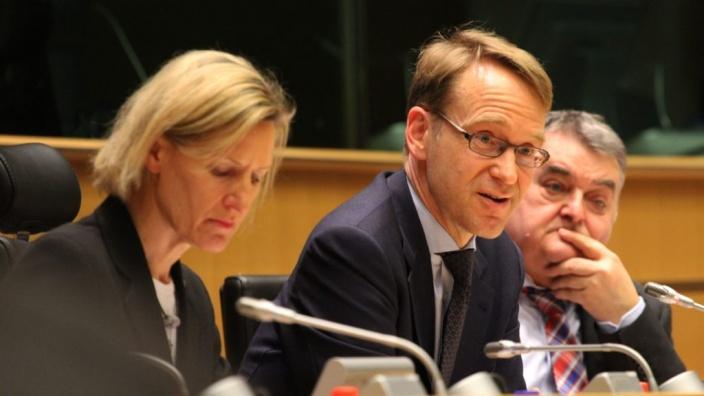 Jens Weidmann, Präsident der deutschen Bundesbank im Gespräch mit den CDU/CSU-Europaabgeordneten, Brüssel 25.02.2015