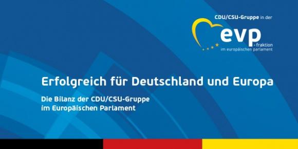 Die Bilanz der CDU/CSU-Gruppe im Europäischen Parlament