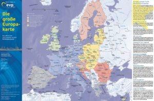 Die große Europakarte