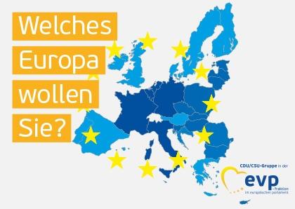 """Infobroschüre """"Welches Europa wollen Sie?"""""""
